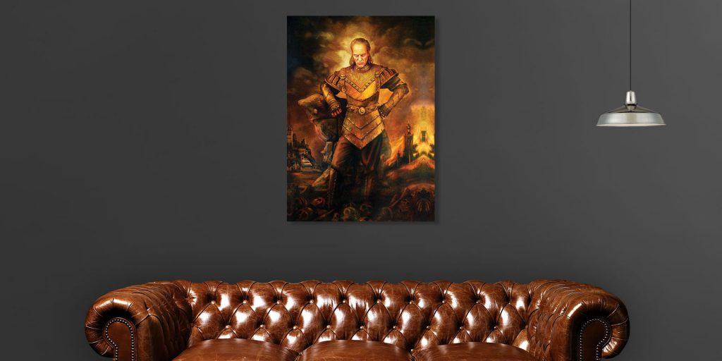 Vigo the Carpathian Framed Canvas Print