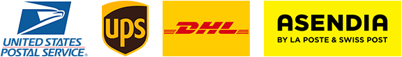 USPS - UPS - DHL - ASENDIA   Carriers used by VigoTheCarpathian.com