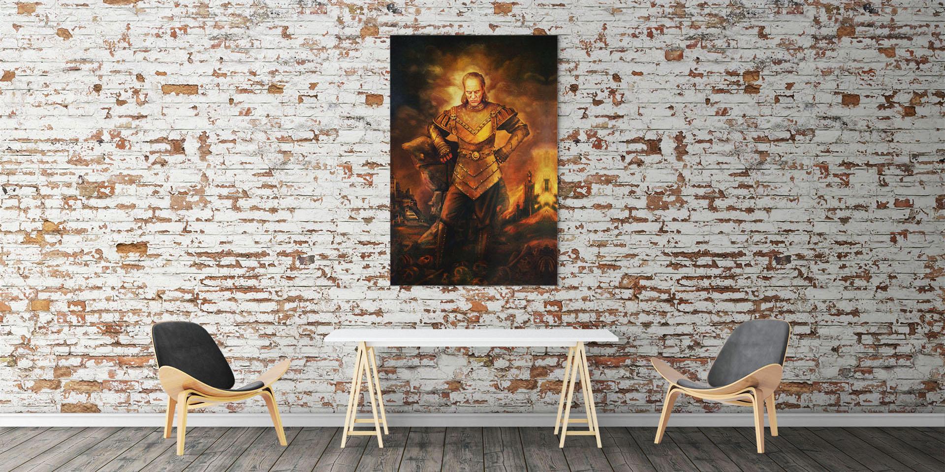 Vigo the Carpathian Framed Canvas Replica Print from Ghostbusters II
